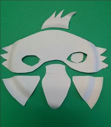 fox mask cut outs