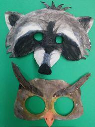 owl and raccoon masks