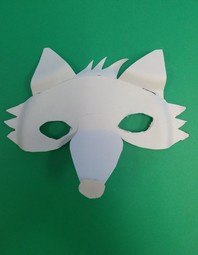 fox mask unpainted